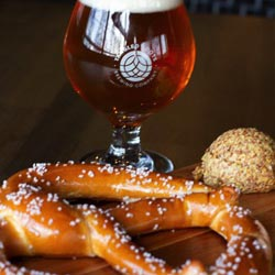 Lock & Mule Pretzel and Beer