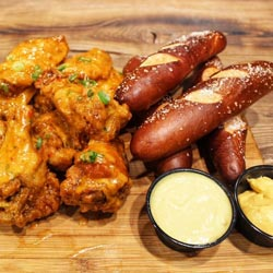 The Shack Wings and Pretzel